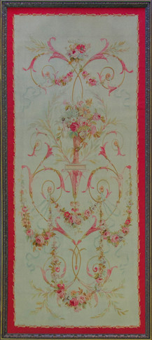 Antique French Aubusson Panel Runner Tapestry