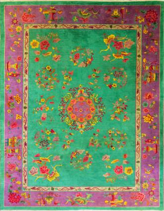 Dragon Art Deco Carpet, Amazing Colors