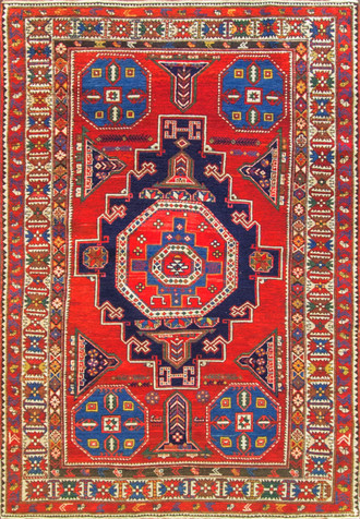 Unusual Antique Shirvan Caucasian Rug
