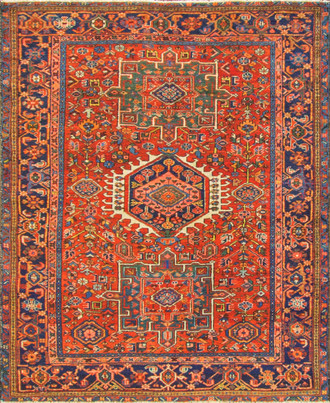 Amazing Antique Persian Karajah Rug