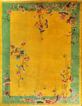Antique Art Deco Chinese Oriental Rug