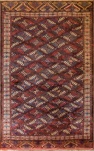 Antique Yomut or Yomud, Turkoman Rug