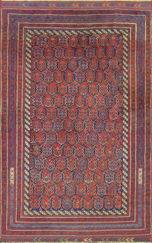 Antique Persian Afshar Carpet, Magnificent, Tribal