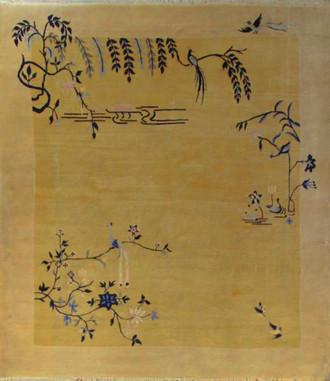 Art Deco Chinese Carpet, Lemon Color